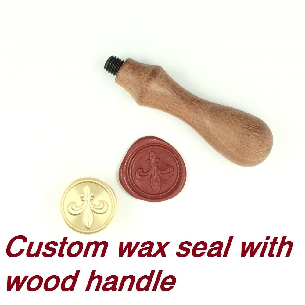 Customize Wax Stamp with Your Logo,with wood handle,DIY Ancient Seal Retro Stamp,Personalized Stamp Wax Seal custom design