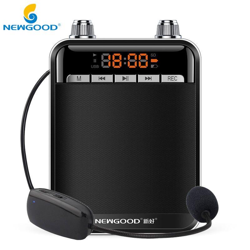 Portable Professional Metal Voice Amplifier for Teacher Megaphone Loudspeaker <font><b>Booster</b></font> Amplifier Speaker with FM Radio