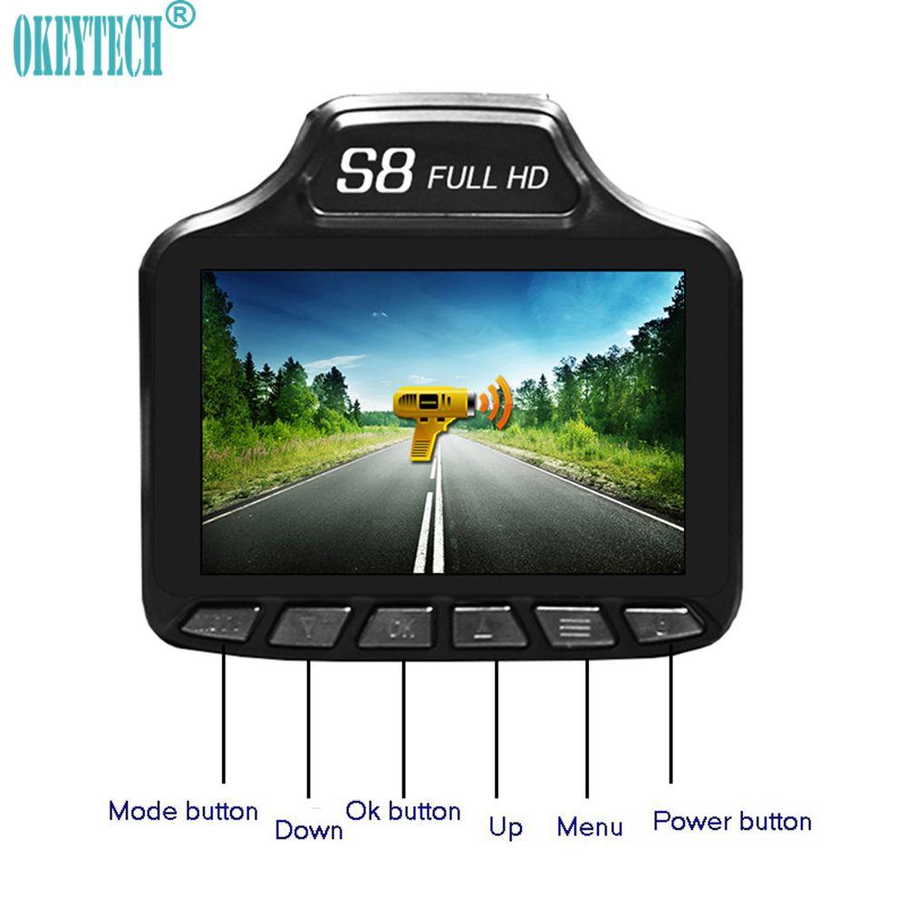 OkeyTech New 2 in 1 Car DVR Best Radar Detector Auto Camera Recorder Anti Radar G-sensor Car-detector Russian& English Version