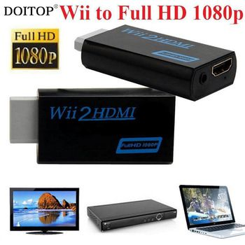 DOITOP Full HD 1080P Wii2HDMI Adapter For Wii To HDMI Upscaling Converter Adapter WII TO HDMI Adapter Converter With 3.5mm Audio