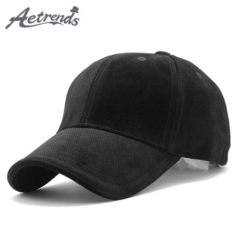 [AETRENDS] luxe marque coton velours casquettes de Baseball pour hommes femmes Sport chapeaux casquette de camionneur papa chapeau hiver en plein air Z-3023