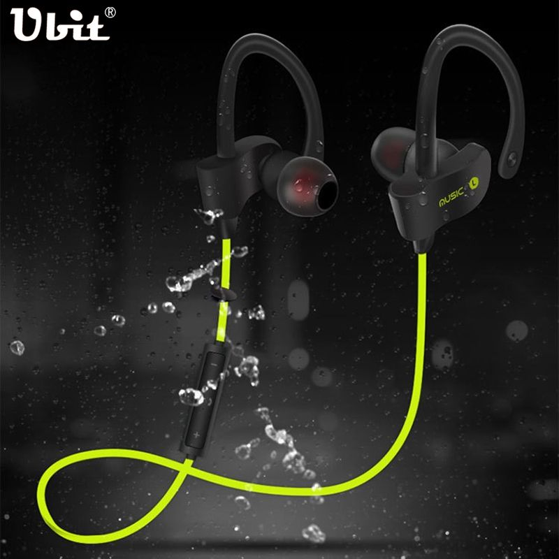Ubit 56S Wireless Bluetooth Earphone Sports Sweat proof Stereo Earbuds <font><b>Headset</b></font> In-Ear Earphones with Mic for iPhone & Smartphone
