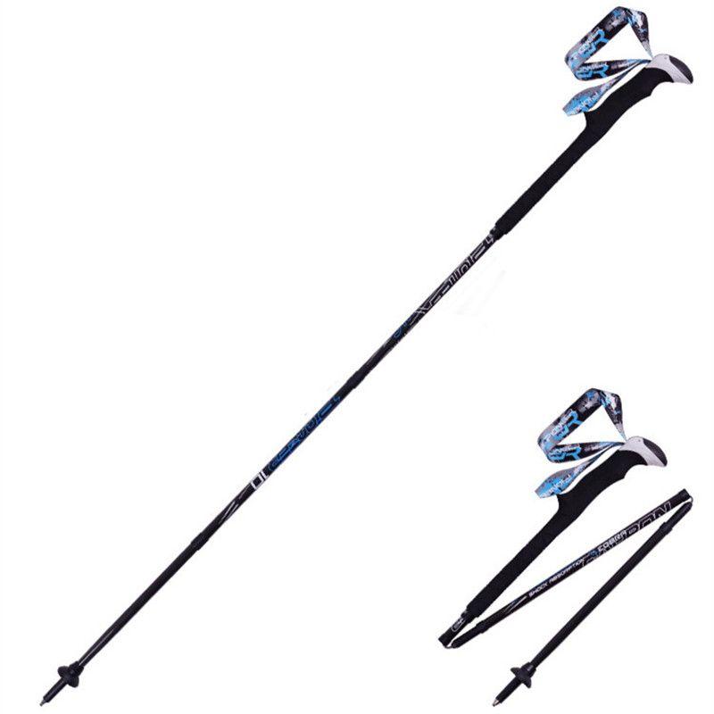 PIOMEER Outdoor Carbon Fiber Folding Camping Climbing Skiing Trekking Hiking Stick Alpenstock Short Pole 2 Size