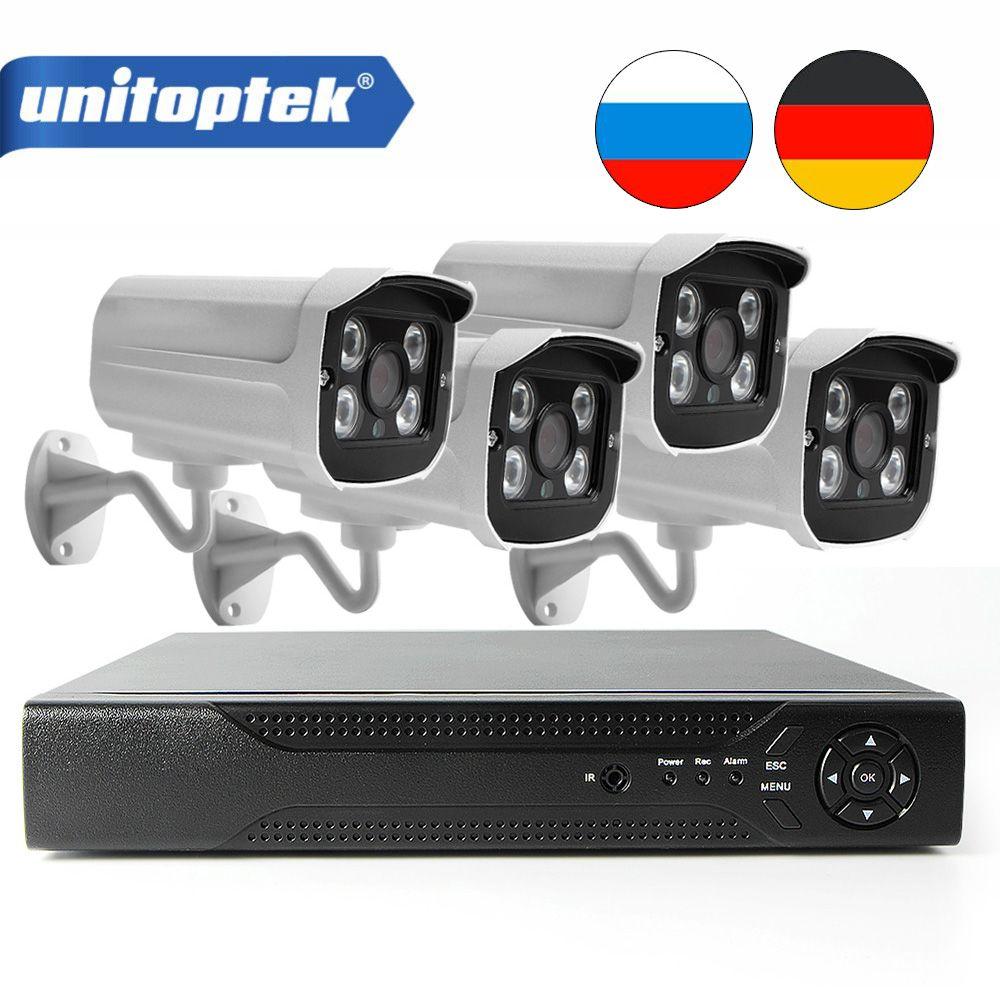 H.265 POE CCTV NVR Kit With 4Pcs 4MP IP Camera Outdoor HI3516D Waterproof Security Video Camera Surveillance System APP XMEye