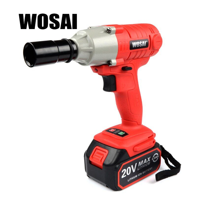 WOSAI 20V Lithium Battery Max Torque 300N.m 4.0Ah Cordless Electrical Impact Wrench Cordless Drill
