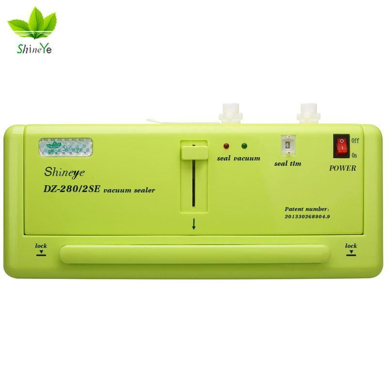 ShineYe sous vide scellant emballage ménage alimentaire Machine Film scellant sous vide emballage comprenant 10 pièces sacs DZ-280 gratuit/2SE