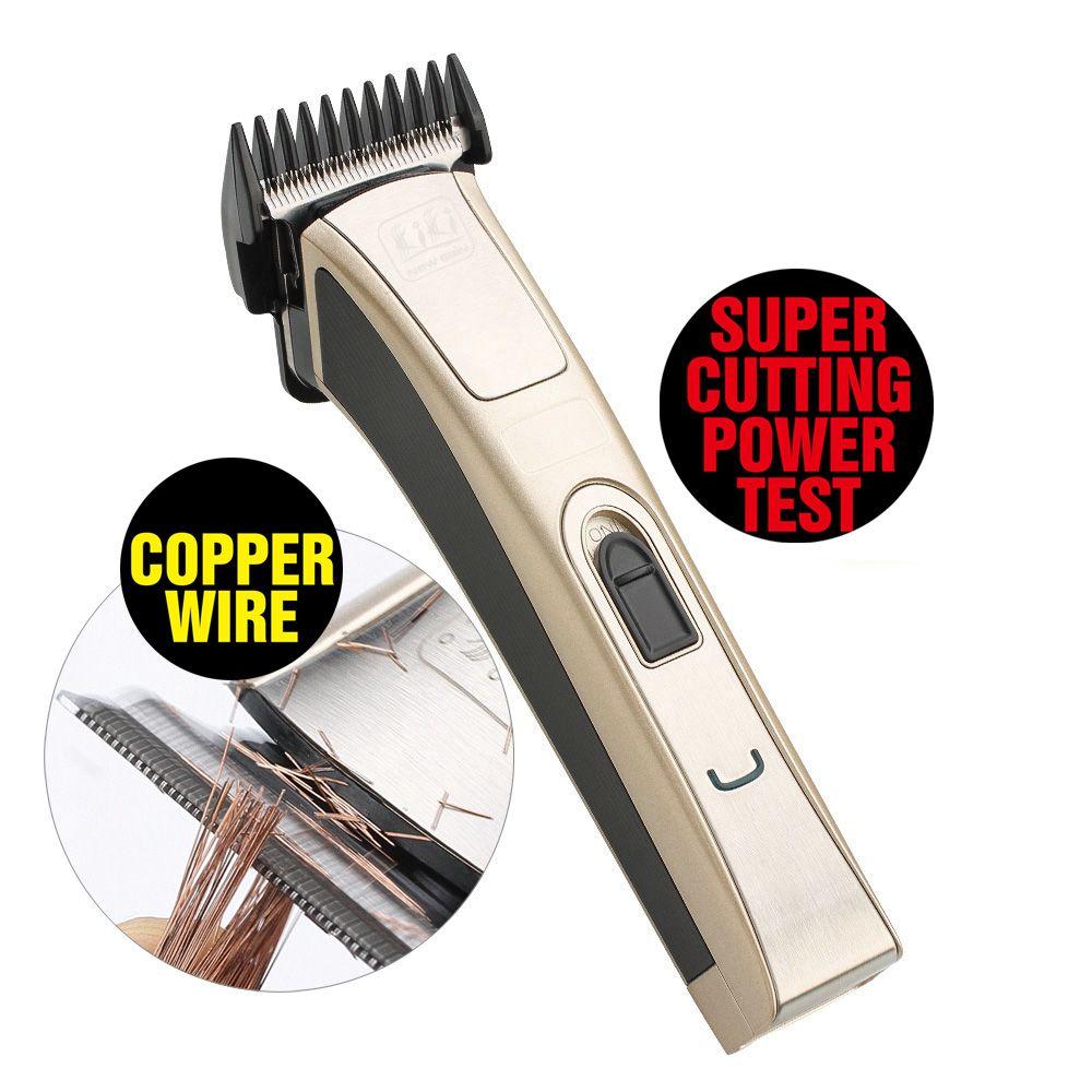 KIKI. Rechargeable Tondeuse À Cheveux de Zinc-plaqué titane NI-MH batterie professionnel Cheveux Tondeuse
