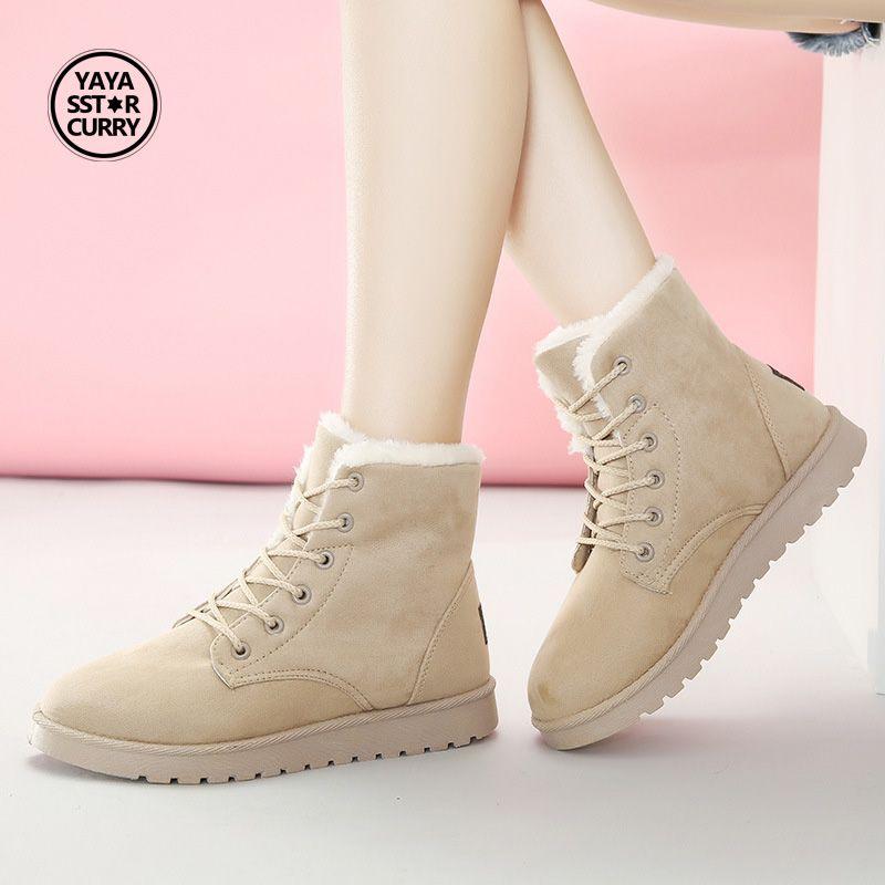 Женские кроссовки зимние теплые меховые СПОРТ Тренер теплые женские кроссовки Zapatillas Mujer Chaussures Femme Водонепроницаемые зимние сапоги