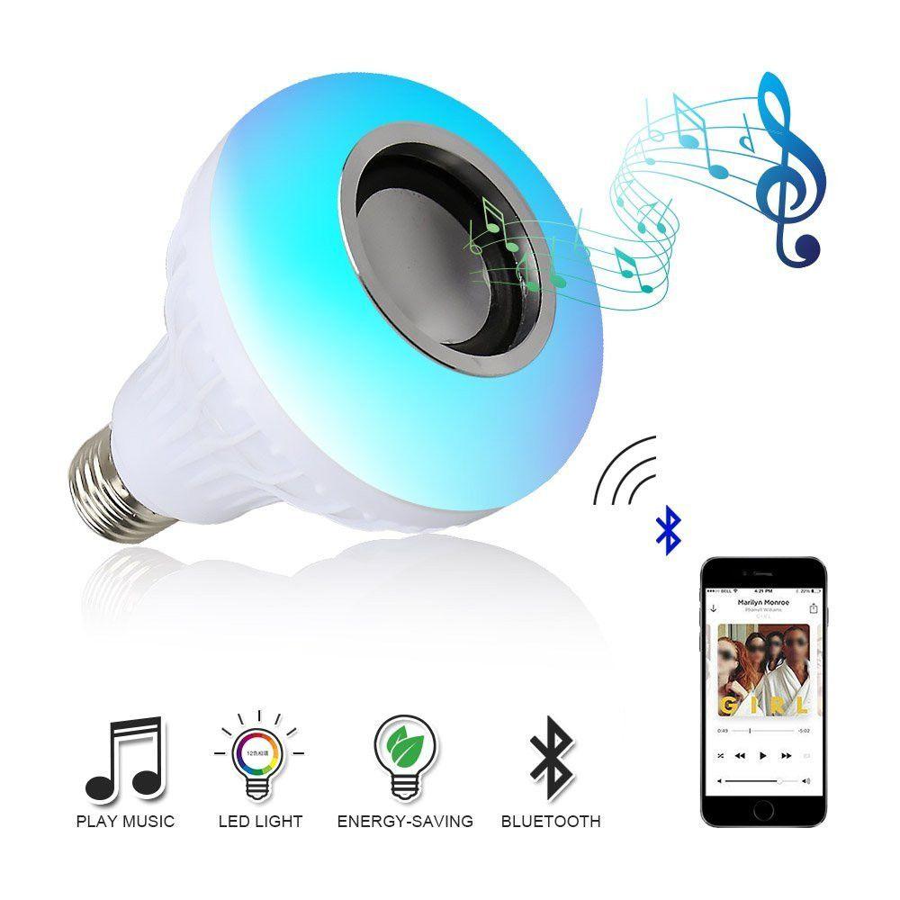E27 RGB conduit À Puce Sans Fil Bluetooth Haut-Parleur Ampoule Musique Jouer Dimmable LED RGB Musique Ampoule Lampe avec 24 Touches À Distance contrôle