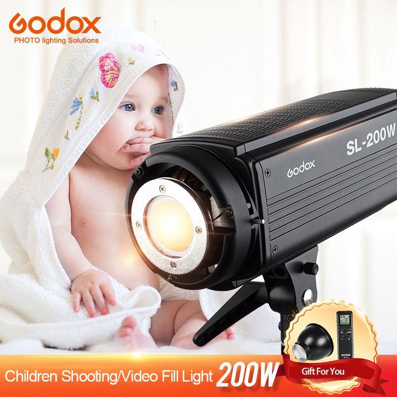 Godox SL-200W LED Video Licht Kontinuierliche 200WS Ausgang 5600 karat Weiß Version LCD Panel Bowens Montieren Fotografie Studio Beleuchtung