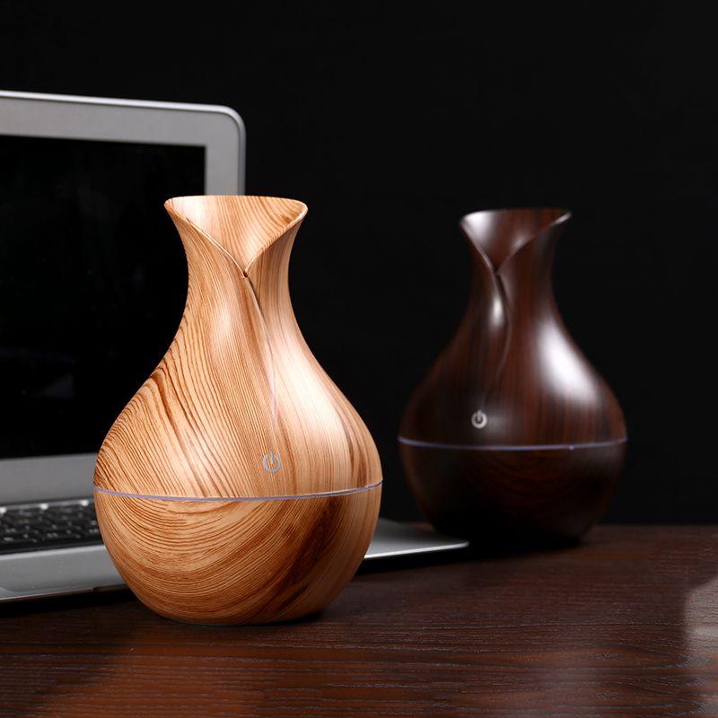 FDIK humidificateur d'air usb diffuseur d'arôme mini grain de bois atomiseur à ultrasons aromathérapie diffuseur d'huile essentielle pour le bureau à domicile