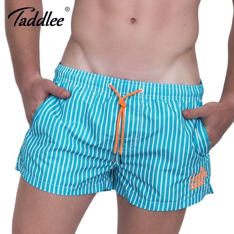 Taddlee Brand Men Beach Board Surfing Boxer Shorts Trunks Quick Drying Plus Size Swim Water Sports Shorts Men's Swimwear 2017