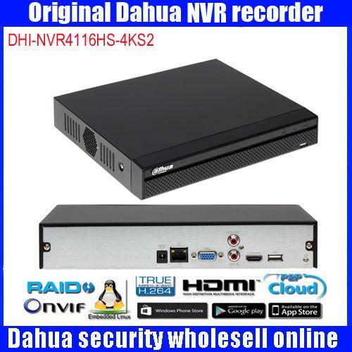 Dahua 16Ch NVR DHI-NVR4116HS-4KS2 Video Recorder 4 Karat & H.265 Lite Netzwerk H.265/H.264 Bis zu 8MP gleichzeitige ausgabe NVR4116HS-4KS2