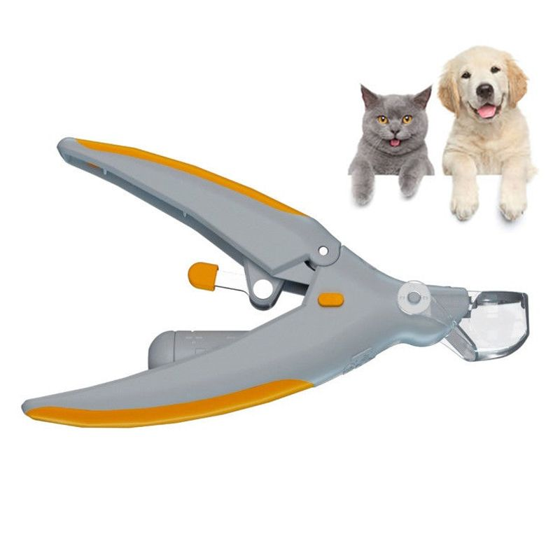 Professional Dog Nail Clippers Peti Care Illuminated Pet Cat Dog Nail Grinder with LED Light and 5X Magnification Claw Shears