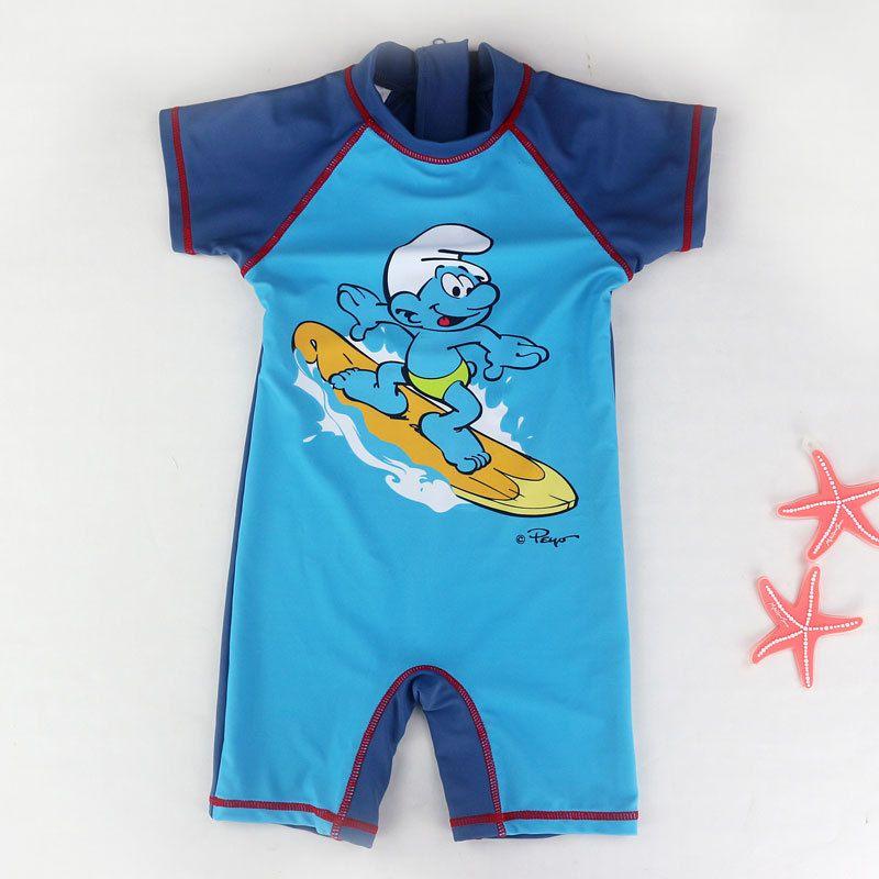 Einteiliges Jungen Bademode Kurzarm Cartoon-Muster kinder Bade Bademode Boy Schwimmen Surfen Strand Badeanzug Badeanzug