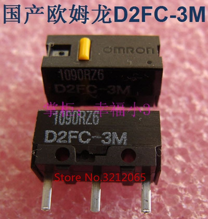 New original Micro Switch D2FC-3M mouse button 3PIN