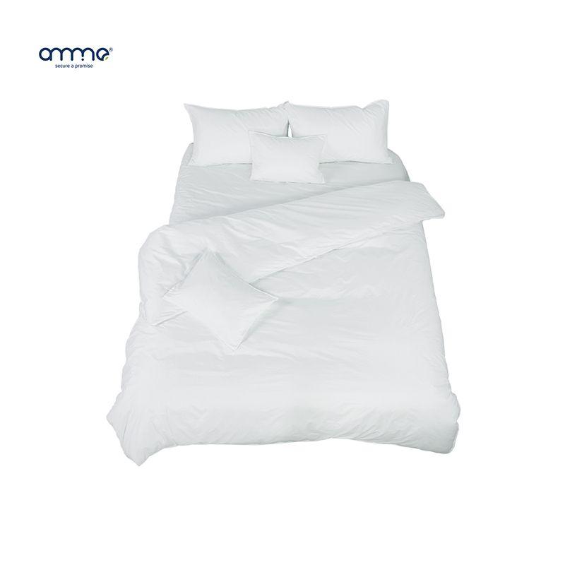 Anmino Anti Mites Bedding Set Four Pieces Home Bedding White Home Bedding Set For Adult Children Anti Mites Allergy Washable Set