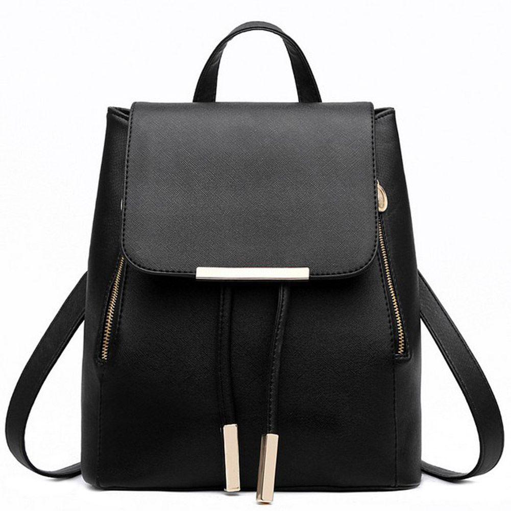 <font><b>Backpack</b></font> Women Pu Leather Female <font><b>Backpacks</b></font> Teenager School Bags Mochila Feminina Rucksack Mochilas Mujer 2018