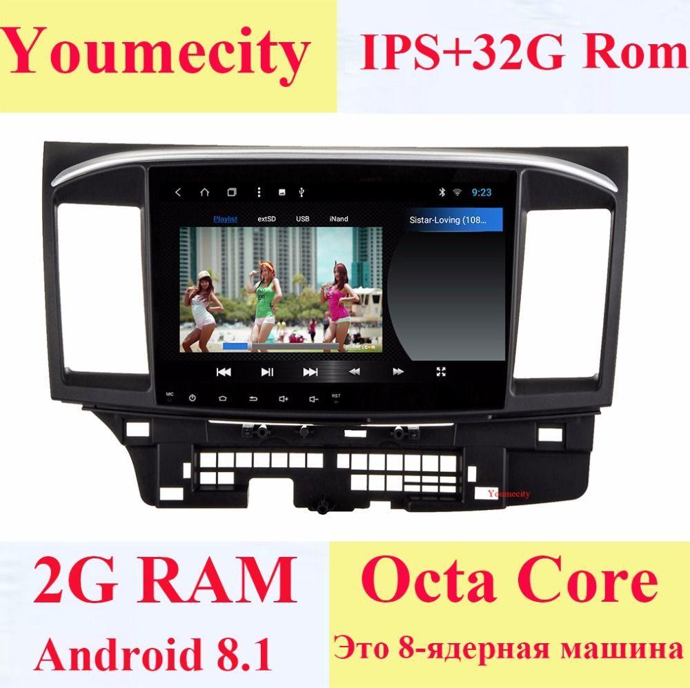 Youmecity 10,1 zoll Android 8.1 2 DIN Auto DVD GPS für MITSUBISHI LANCER radio video player Kapazitiven Bildschirm 1024*600 2008-2015
