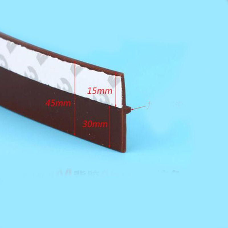 45mm largeur auto-adhésif silicone en caoutchouc bar porte fenêtre joint bas bande