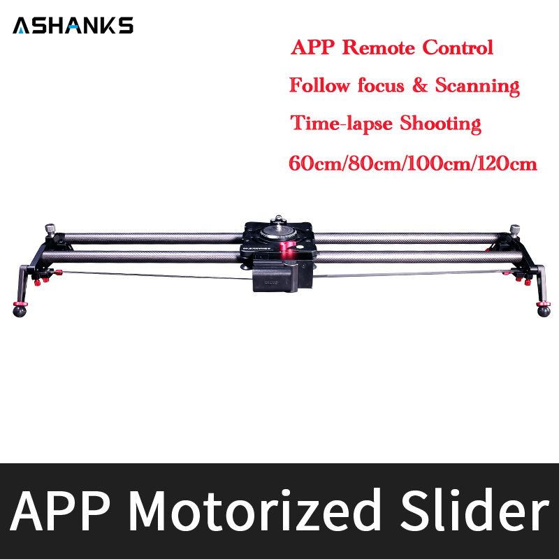 Bluetooth Motor Motorized Timelapse Video Slider Follow Focus Rail Carbon Slide with APP Electric Control for DSLR Camera Phone