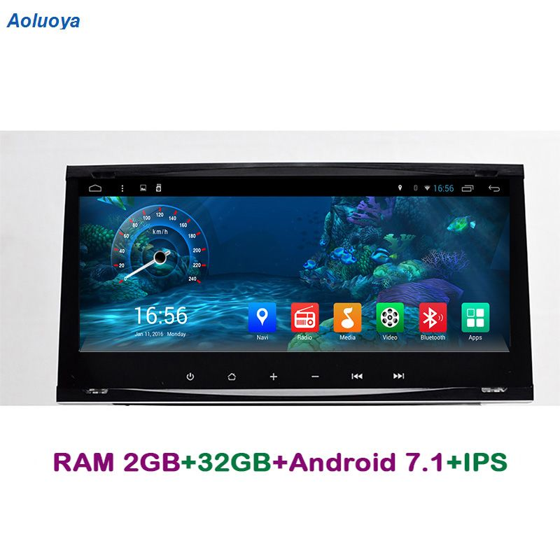 Aoluoya IPS RAM 2 gb Android 7.1 AUTO DVD-Player Für Ford Focus Transit Galaxy Mondeo Fiesta C-max S -max Kuga Radio GPS Navigation