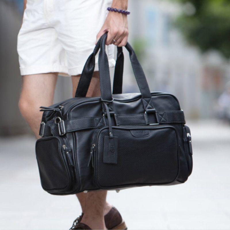 Tidog hommes sacs à main de sac d'épaule de grande capacité voyage sac