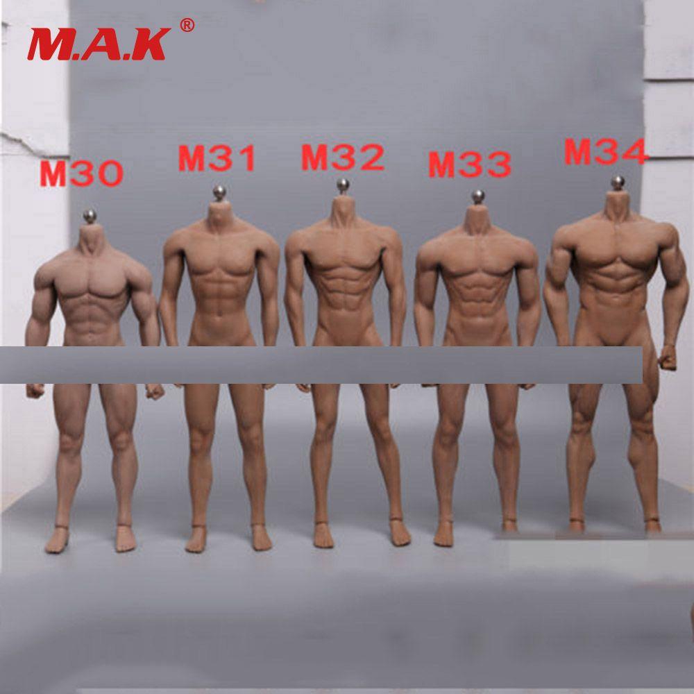 1/6 skala Super-Flexible Männlichen Körper Figur M30 M31 M32 M33 M34 Sonnen Mann Nahtlose Körper 1/6th stahl Edelstahl Skeleton Puppe Modell
