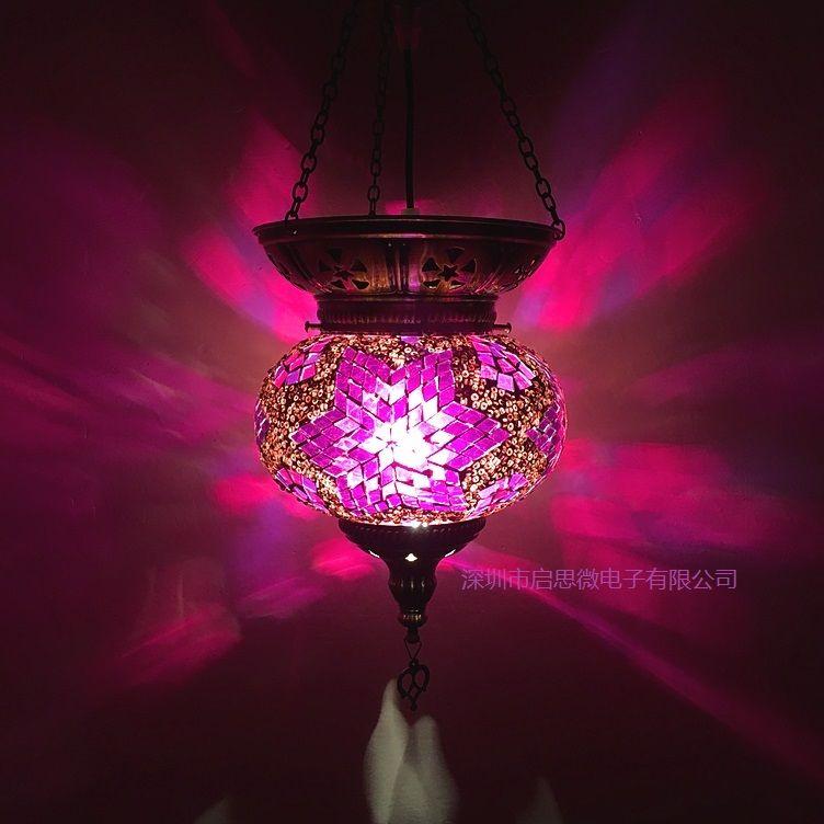 Newest E14 Turkey ethnic customs handmade lamp romantic cafe restaurant bar tree Pendant Light bar Pendant Light