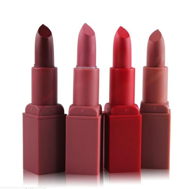 Hot Sexy Red Lips Matte Velvet Lipstick Pencil Cosmetic Long Lasting Lip Tint Pigment Makeup Nude Brown Lipstick Matte Lip stick