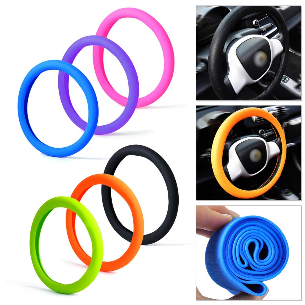 CITALL Soft Silicone Steering Wheel Cover Shell Skidproof Odorless Eco Friendly for VW Audi Nissan Peugeot Mazda Lexus Honda Kia