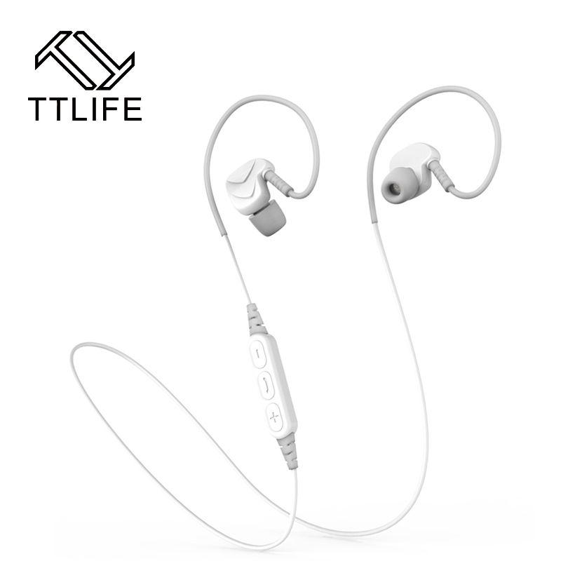 2016 Bluetooth Earphone TTLIFE wireless Bluetooth 4.1 headset headphones driver element 10mm sport waterproof earphones with Mic
