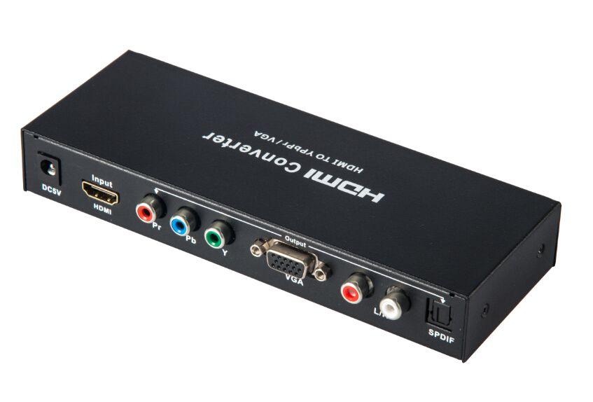 HDMI à la Composante YPbPR & VGA Vidéo Convertisseur Adaptateur HDMI à VGA/Ypbpr + R/L/SPDIF convertisseur 1080 p Vidéo Audio RCA L/R 1080 P