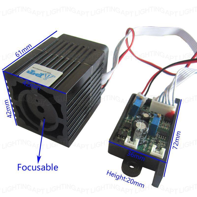 Module laser vert 300 mW 532nm Super stable de qualité focalisable Diode Laser rvb conception compacte/TT L DC 12 V entrée
