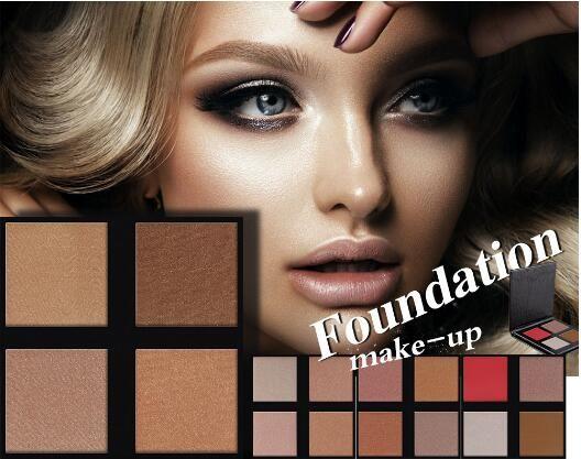 Ew Marque Brillant Bronzer Surligneur Poudre Mat Brillant Pour Le Visage Maquillage Compact Contour Palette Gloden Lueur Kit
