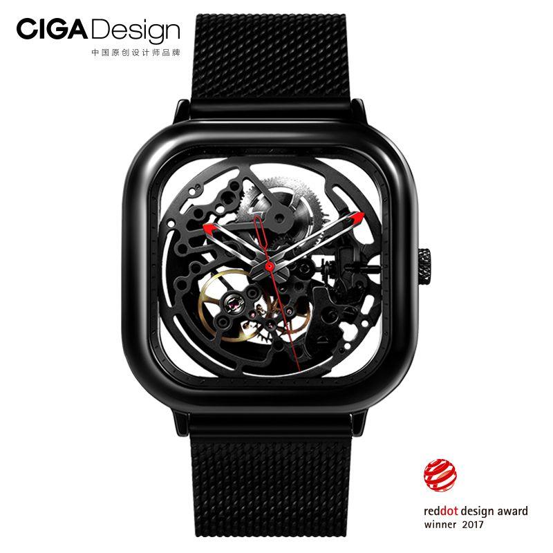 Uhr Xiaomi CIGA höhlten Design Anti-seismische Mechanische Uhr Durchbrochene Schnitzerei Armbanduhr Mit Metallband