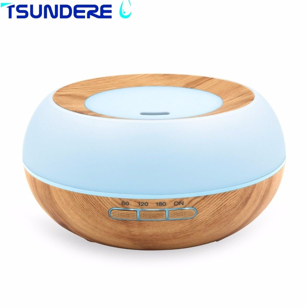 TSUNDERE L Aroma Essential Oil Diffuser Ultrasonic Cool Mist Humidifier LED Night Light for Office Bedroom Living Room Yoga SPA