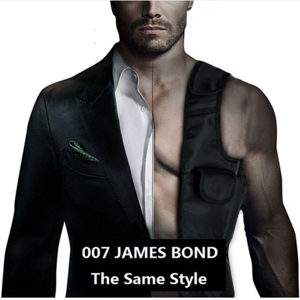 LAIX EDC Anti-Theft Скрытая подмышек кобура черный нейлон-агент Бонд 007 пакета(ов) Многофункциональный инспектор сумка