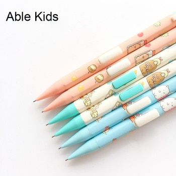 J34 3X Cute Sumikko Gurashi Press Automatic Mechanical Pencil With Eraser School Office Supply Student Stationery 0.5mm