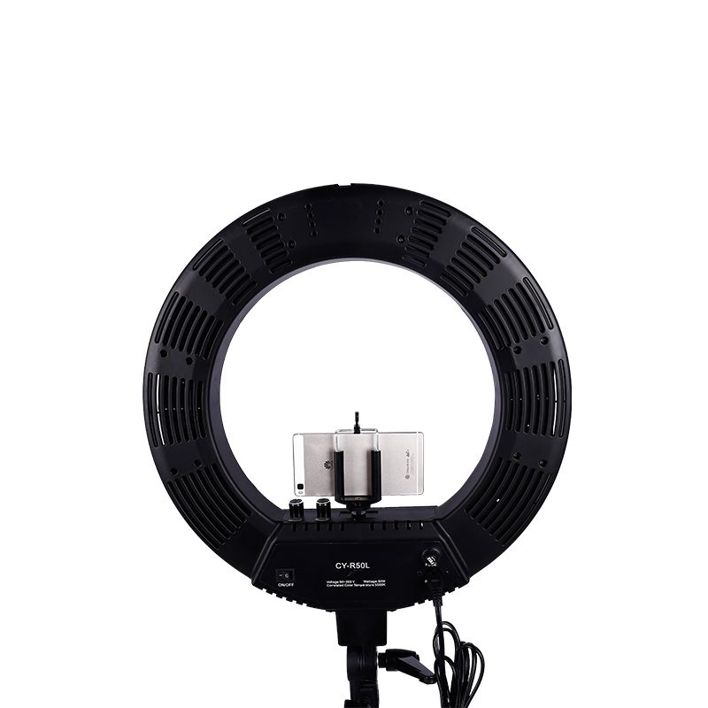 18 inch Outer LED Stepless Adjustment Ring Light Kit 480 Pieces LED 5500K Ring Light