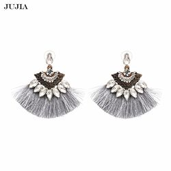 Vintage Franges Boucles D'oreilles De Mode 2018 marque Boho Maxi de luxe Balancent Gland Boucles D'oreilles pour les Femmes Bijoux