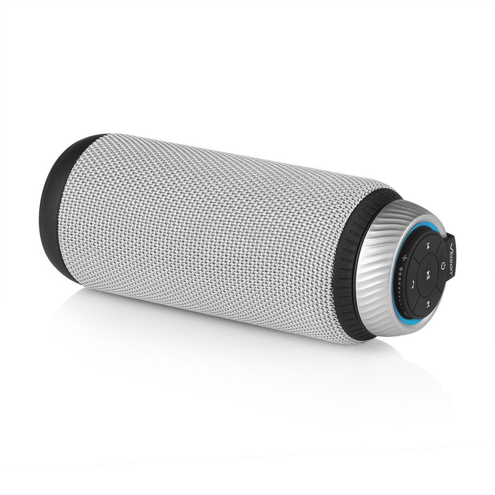 VIDSON D6 Haute Puissance Bluetooth Haut-parleurs Double-Pilote 360 Degrés Surround Son Portable Sans Fil Haut-Parleur Basse pour iPhone, Android