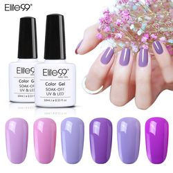 Elite99 Ungu Warna Seri Nail Gel Polish 10 Ml Uv Gel LED Lampu Manikur Lacquer Rendam Off Penjualan Panas Panjang tahan Lama Nail Art Gel