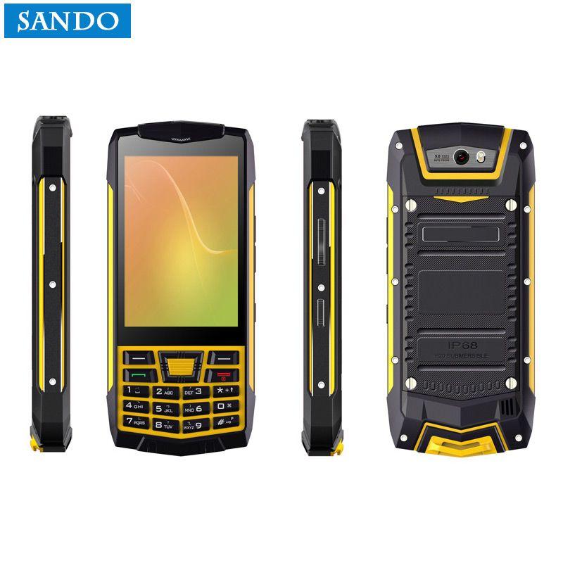 Original N2 PTT Android 6.0 Keyboard WCDMA Walkie Talkie feature phone IP68 Waterproof smartphone GPS NFC Phone Quad Core