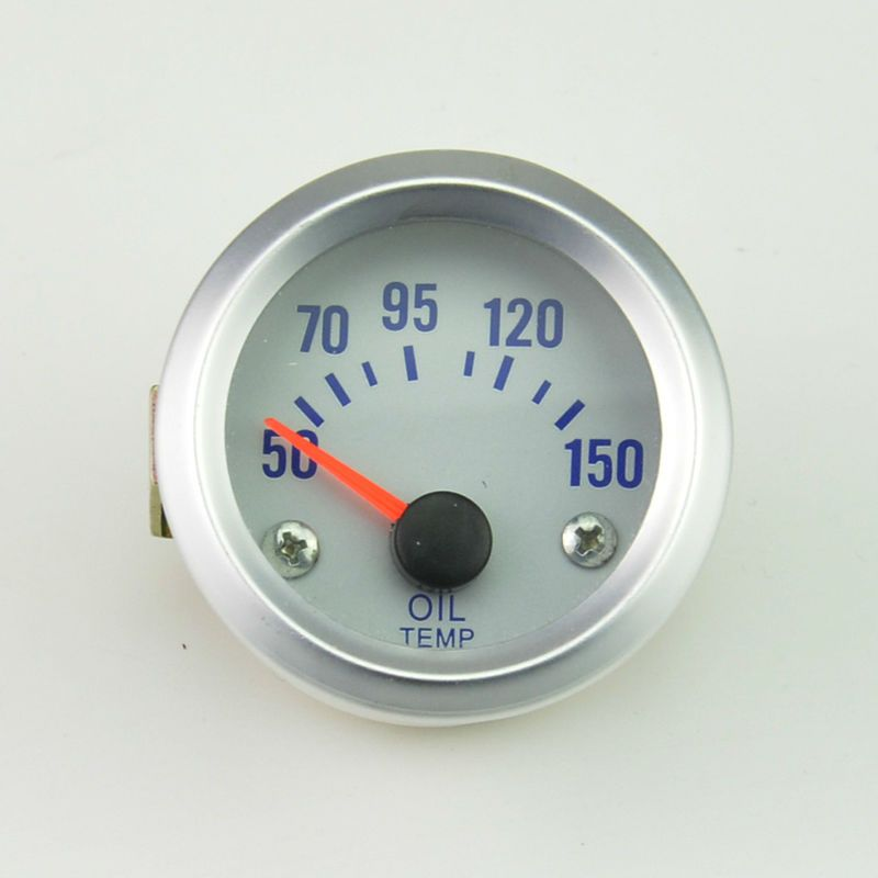 52mm white car modification accessories racing auto gauge  Auto  oil temp temperature gauge  Car modification Free shipping