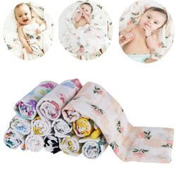 baby blanket Baby Muslin Blankets Swaddle Cotton Soft Newborn Baby Bath Towel Swaddle Blankets MultiFunctions Muslin