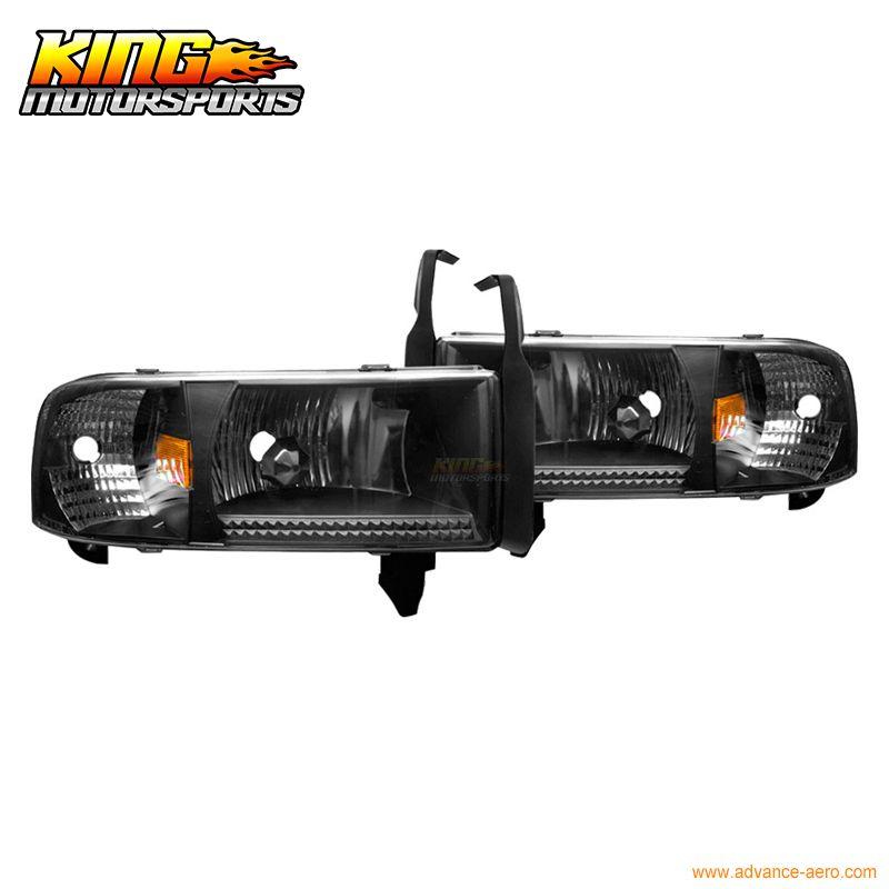 Für 94-00 01 Dodge Ram 1500 2500 3500 Scheinwerfer Schwarz Klar Lampen 2002 USA Inlands Kostenloser Versand Heißer verkauf