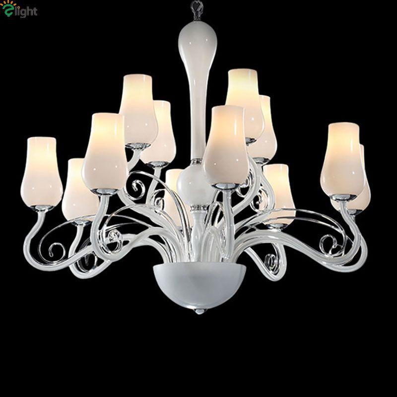 Modern Imitation Jade Led Chandeliers Lighting Lustre Glass Living Room Led Pendant Chandelier Lights Dining Room Hanging Lamp