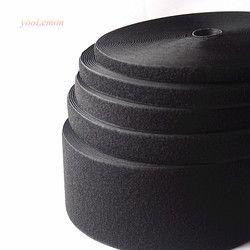16mm-150mm largeur Noir Crochet et Boucle de Ruban Adhésif/Rouleau-Coudre Sur Bande (Pas Adhésif) MST01