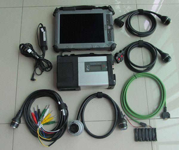 Top sdconnect c5 mb sterne diagnose c5 mit laptop i7 ix104 ram 4g ssd 240 gb neueste software 2018,12 bereit zu verwenden für 12 v 24 v